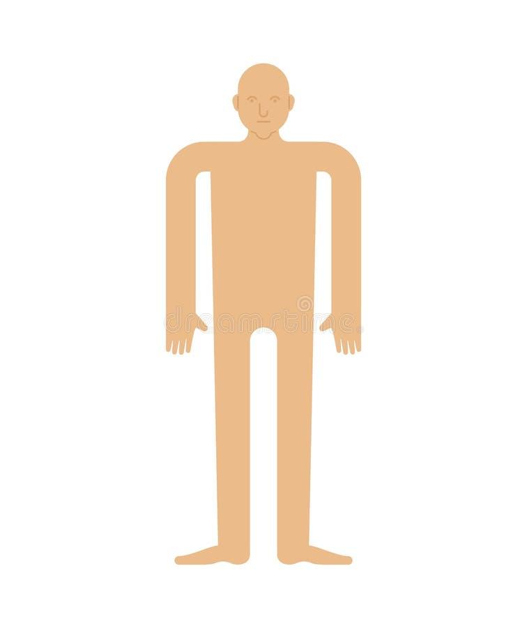 Πρότυπο ανθρώπινου σώματος που απομονώνεται Άτομο για να κόψει το έγγραφο απεικόνιση αποθεμάτων