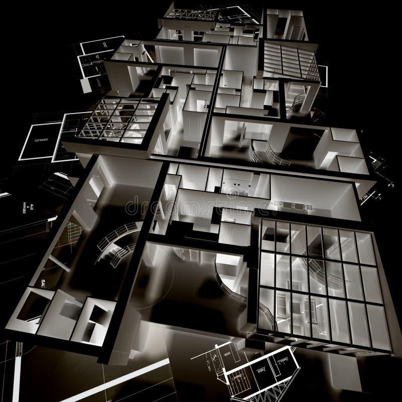 πρότυπο αρχιτεκτονικής αρνητικό απεικόνιση αποθεμάτων