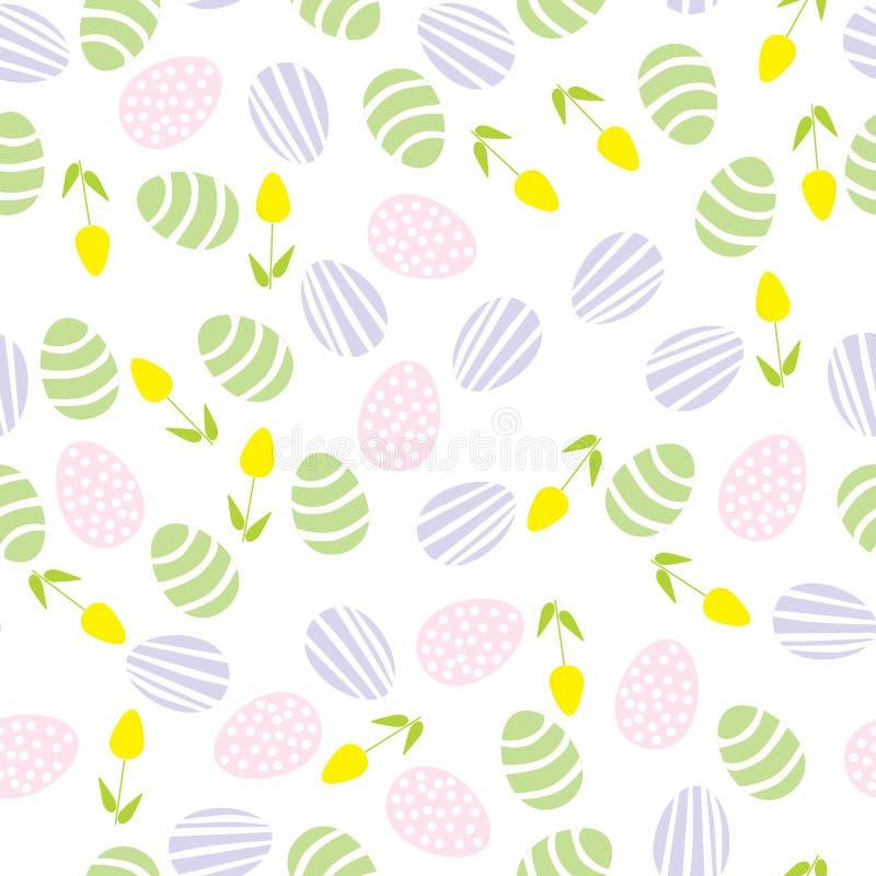 πρότυπο αυγών Πάσχας άνευ ραφής διανυσματική απεικόνιση