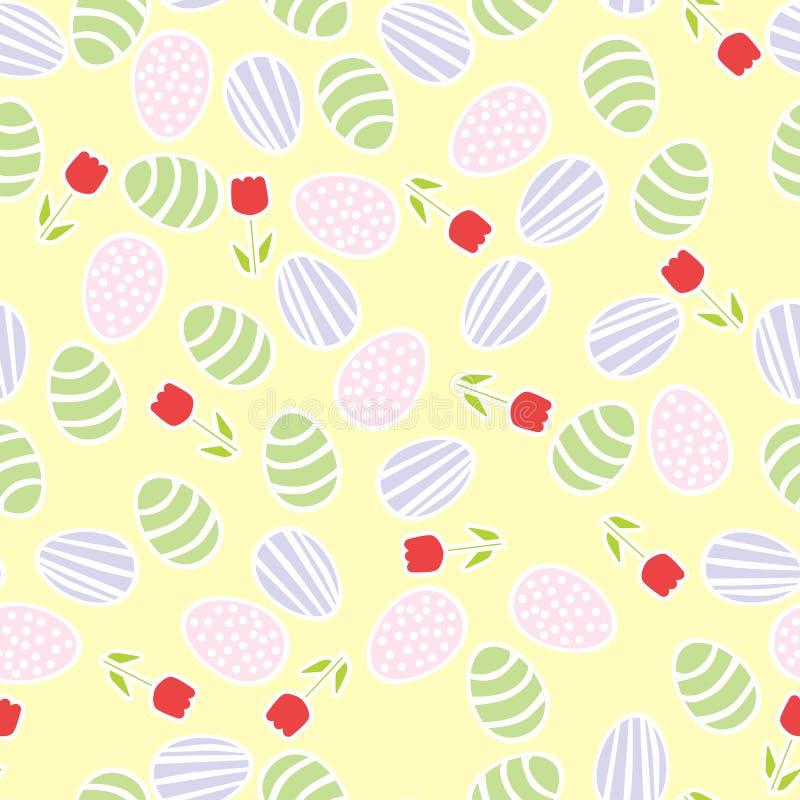 πρότυπο αυγών Πάσχας άνευ ραφής ελεύθερη απεικόνιση δικαιώματος