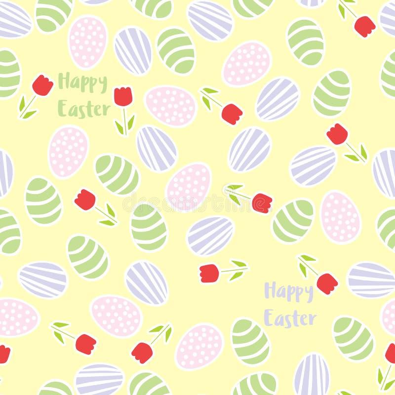 πρότυπο αυγών Πάσχας άνευ ραφής απεικόνιση αποθεμάτων