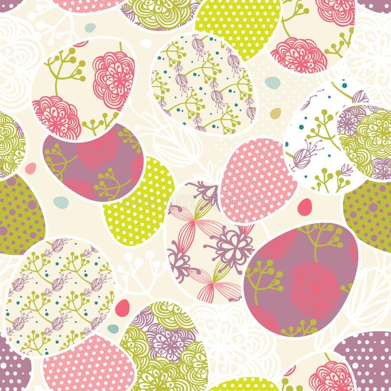 πρότυπο αυγών Πάσχας διανυσματική απεικόνιση