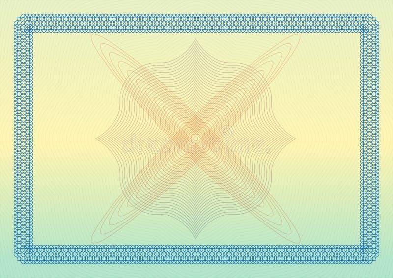 Πρότυπο βεβαιώσεων, διπλωμάτων ή αποδείξεων με τα διακοσμητικά σύνορα επίσης corel σύρετε το διάνυσμα απεικόνισης απεικόνιση αποθεμάτων