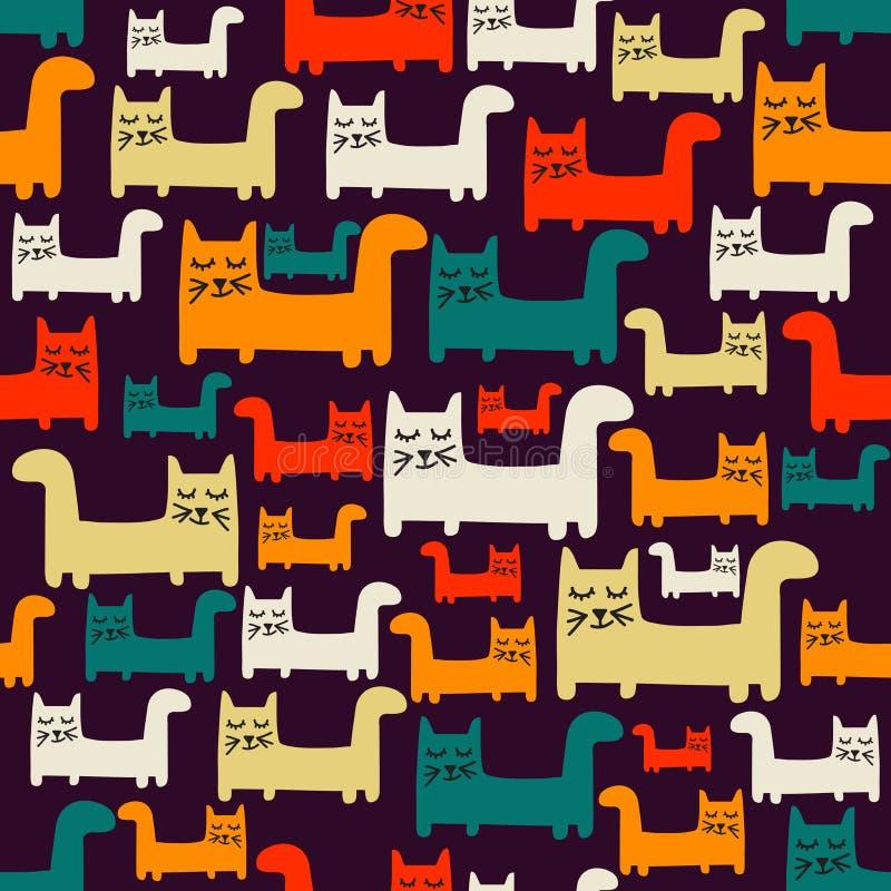 πρότυπο γατών άνευ ραφής ελεύθερη απεικόνιση δικαιώματος