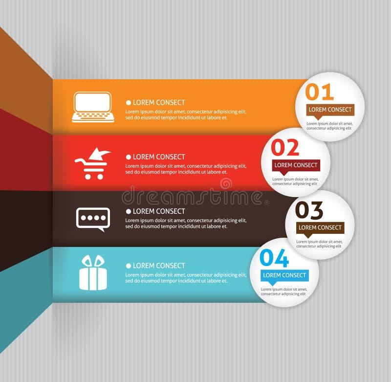 Πρότυπο για την επιχειρησιακή παρουσίασή σας διανυσματική απεικόνιση