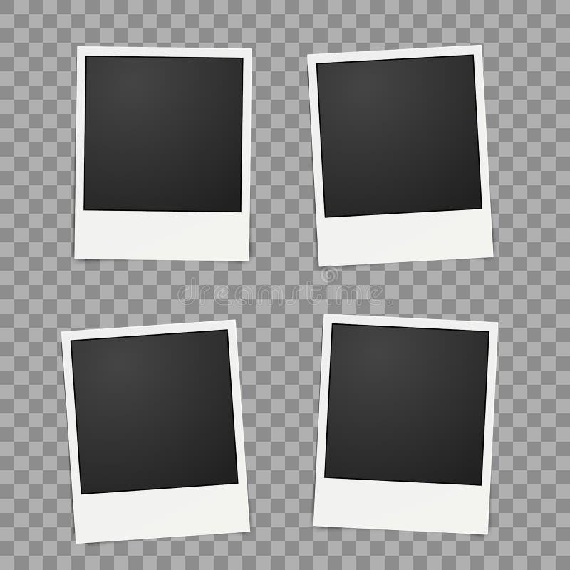 Πρότυπο για τη φωτογραφία, διάνυσμα πλαισίων Polaroid για το σχέδιο απεικόνιση αποθεμάτων