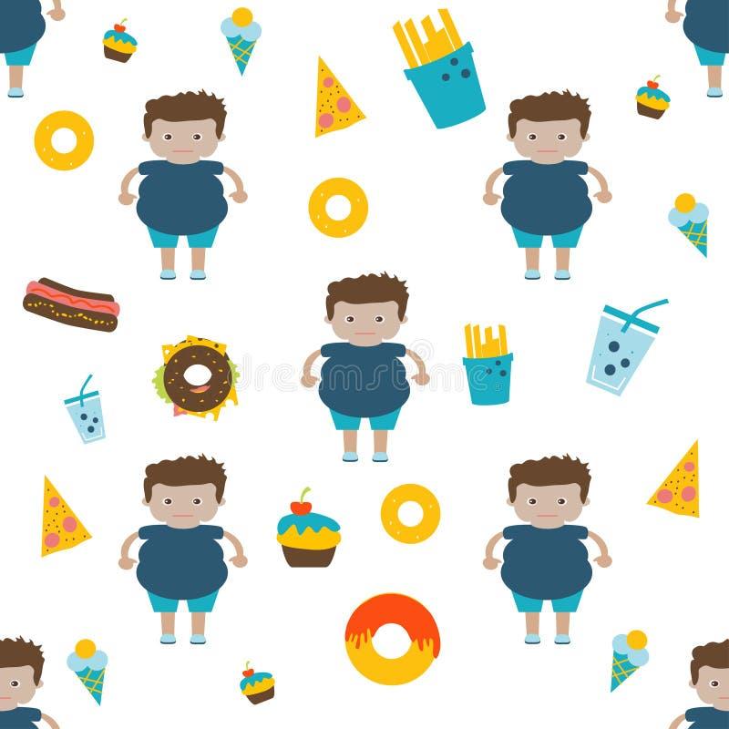 Πρότυπο για τις επιλογές του εστιατορίου γρήγορου φαγητού ή του ανθυγειινού infographics τρόπου ζωής απεικόνιση αποθεμάτων