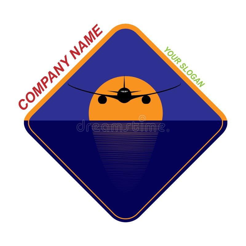 πρότυπο για το λογότυπο ταξιδιωτικής εταιρείας, ταξιδιωτική εταιρεία διανυσματική απεικόνιση