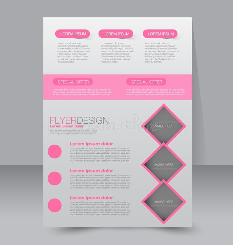 Πρότυπο για το φυλλάδιο ή το ιπτάμενο Αφίσα Editable A4 ελεύθερη απεικόνιση δικαιώματος