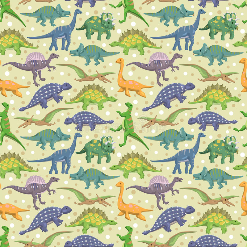 πρότυπο δεινοσαύρων άνευ ραφής διανυσματική απεικόνιση