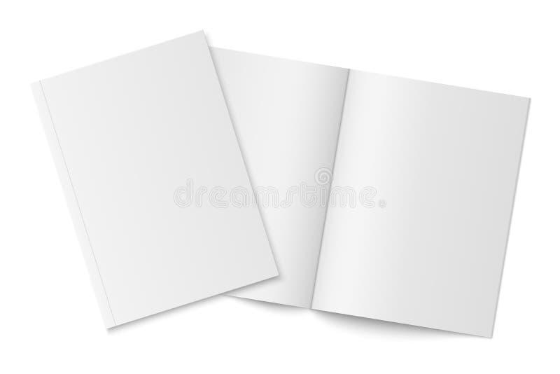 Πρότυπο δύο λεπτών βιβλίων με τη μαλακή κάλυψη που απομονώνεται ελεύθερη απεικόνιση δικαιώματος