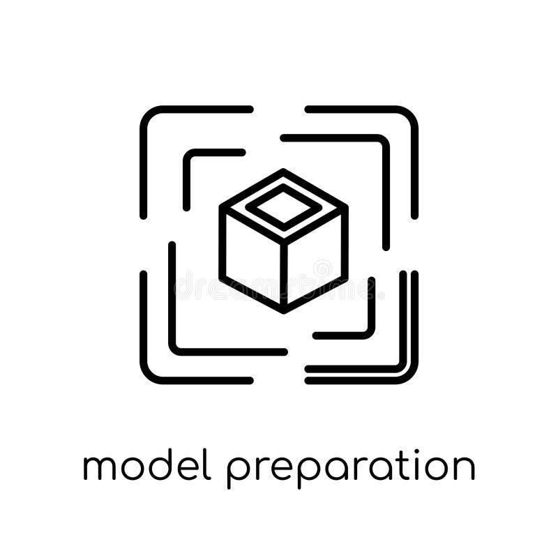 πρότυπο εικονίδιο προετοιμασιών Καθιερώνον τη μόδα σύγχρονο επίπεδο γραμμικό διανυσματικό πρότυπο π απεικόνιση αποθεμάτων