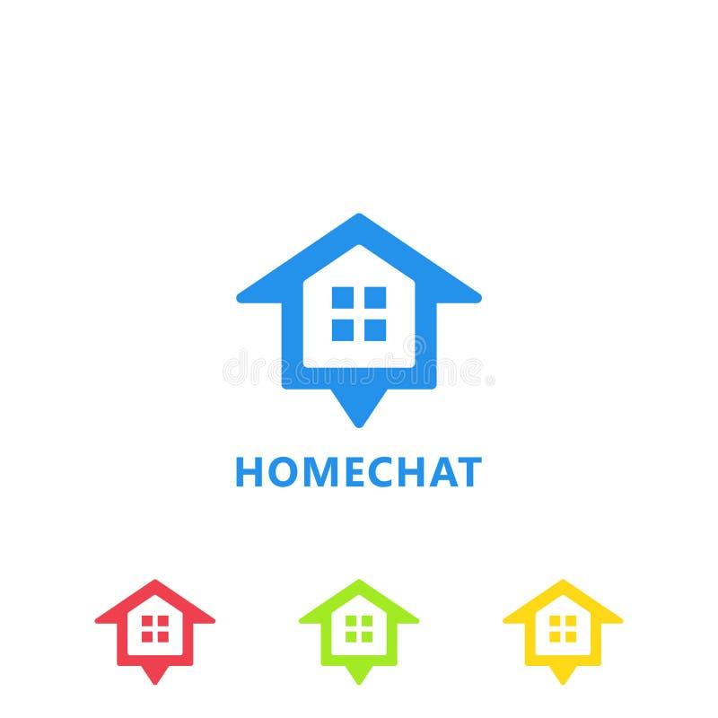 Πρότυπο εικονιδίων λογότυπων εγχώριας συνομιλίας διανυσματική απεικόνιση