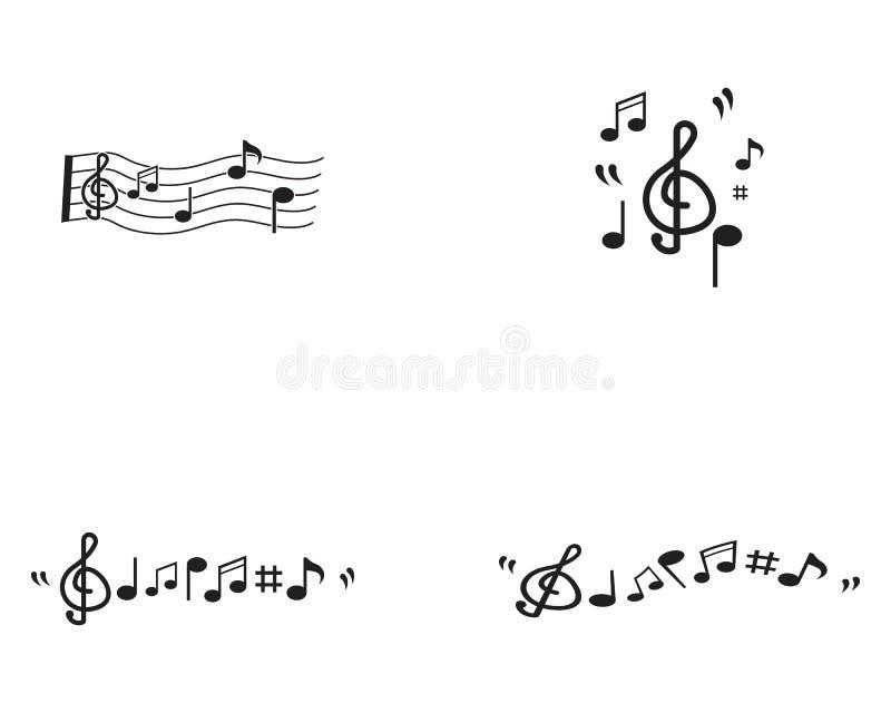 Πρότυπο εικονιδίων μουσικής σημειώσεων ελεύθερη απεικόνιση δικαιώματος