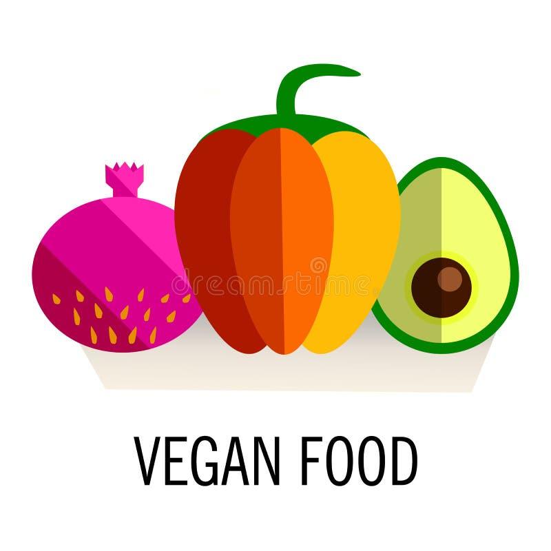 Πρότυπο εμβλημάτων ή ιπτάμενων με τα οργανικά φρούτα και λαχανικά Εννοιολογική απεικόνιση των υγιών τροφίμων που γίνεται στο επίπ ελεύθερη απεικόνιση δικαιώματος