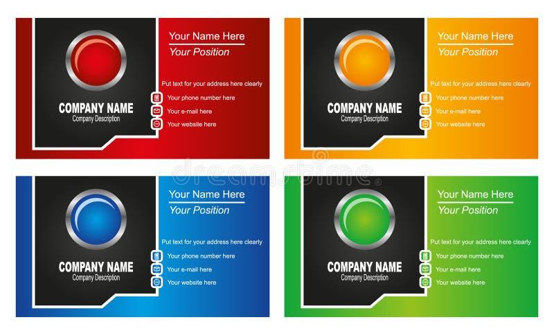 Download Πρότυπο επαγγελματικών καρτών Διανυσματική απεικόνιση - εικονογραφία από γκρίζος, έννοια: 22780732
