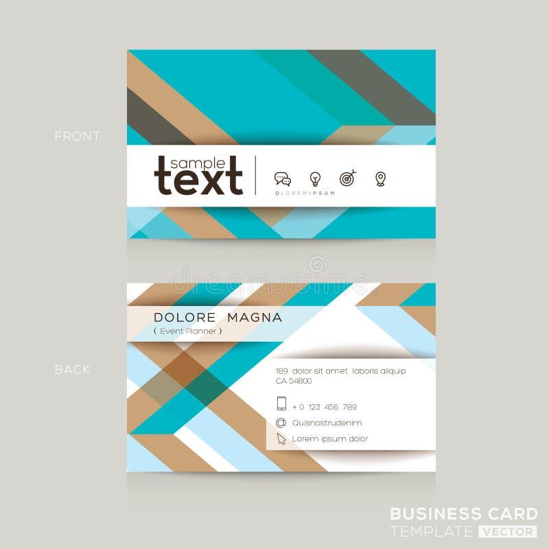 Πρότυπο επαγγελματικών καρτών με το αφηρημένο ζωηρόχρωμο υπόβαθρο μορφής ζώνης ελεύθερη απεικόνιση δικαιώματος