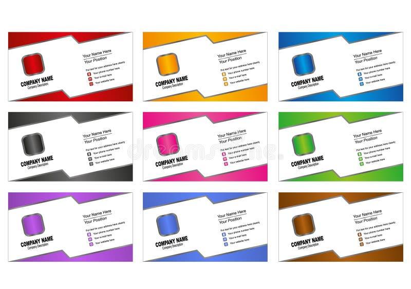 Download Πρότυπο επαγγελματικών καρτών Διανυσματική απεικόνιση - εικονογραφία από μεταλλικός, μαύρα: 22780659