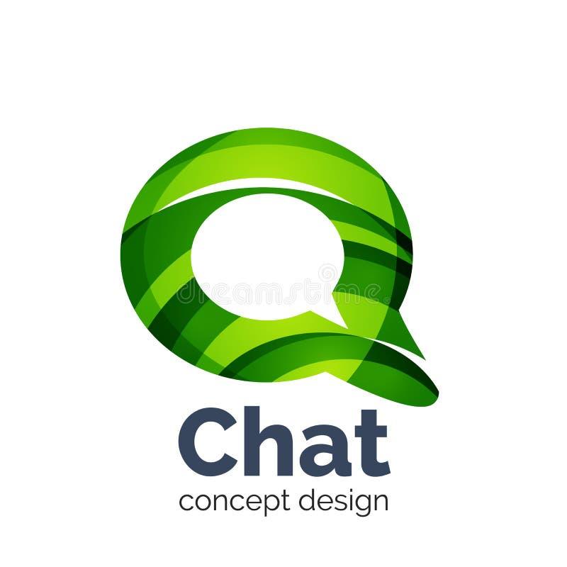 Πρότυπο επιχειρησιακών διανυσματικό λογότυπων - σύννεφο συνομιλίας απεικόνιση αποθεμάτων