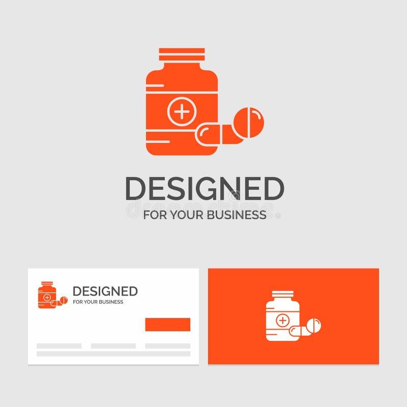 Πρότυπο επιχειρησιακών λογότυπων για την ιατρική, χάπι, κάψα, φάρμακα, ταμπλέτα r ελεύθερη απεικόνιση δικαιώματος