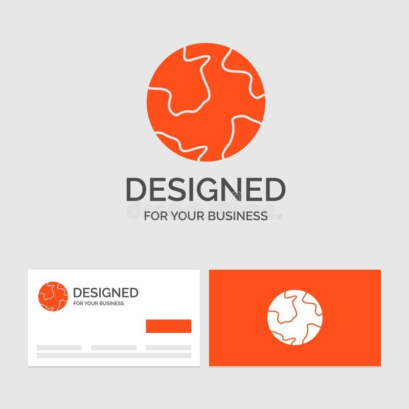 Πρότυπο επιχειρησιακών λογότυπων για τη γη, σφαίρα, κόσμος, γεωγραφία, ανακάλυψη r ελεύθερη απεικόνιση δικαιώματος