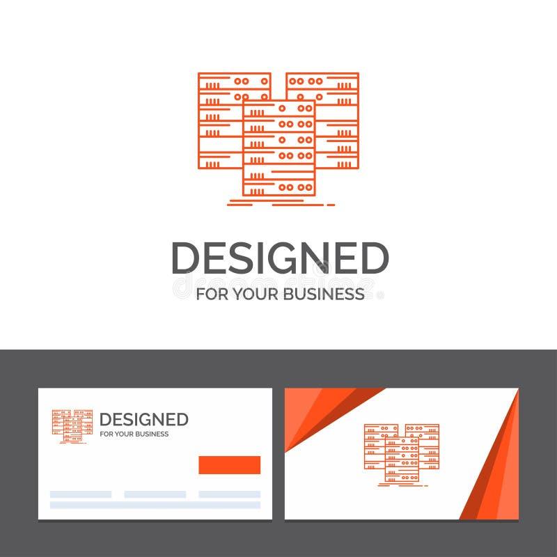 Πρότυπο επιχειρησιακών λογότυπων για το κέντρο, κέντρο, στοιχεία, βάση δεδομένων, κεντρικός υπολογιστής r διανυσματική απεικόνιση
