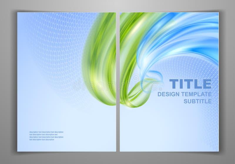 Πρότυπο επιχειρησιακών μπροστινό και πίσω ιπτάμενων απεικόνιση αποθεμάτων