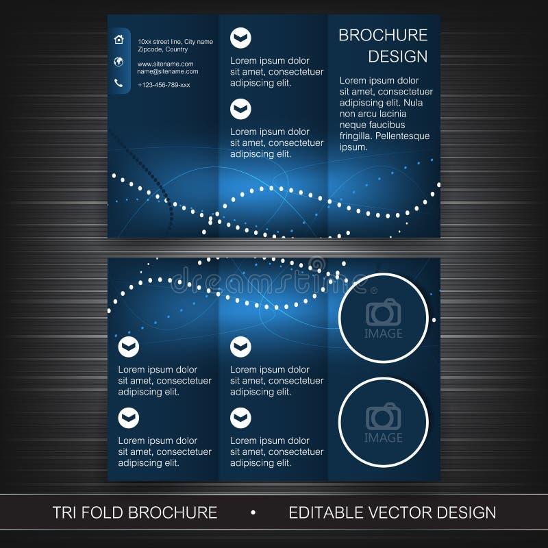 Πρότυπο επιχειρησιακών trifold ιπτάμενων, φυλλάδιο ή σχέδιο κάλυψης διανυσματική απεικόνιση