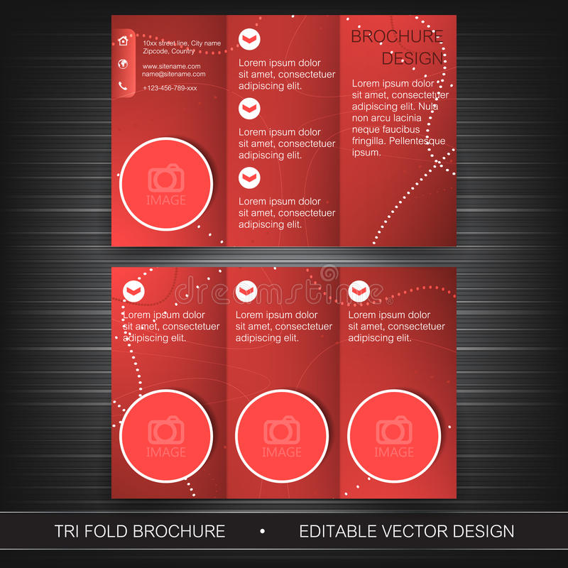 Πρότυπο επιχειρησιακών trifold ιπτάμενων, φυλλάδιο ή σχέδιο κάλυψης απεικόνιση αποθεμάτων
