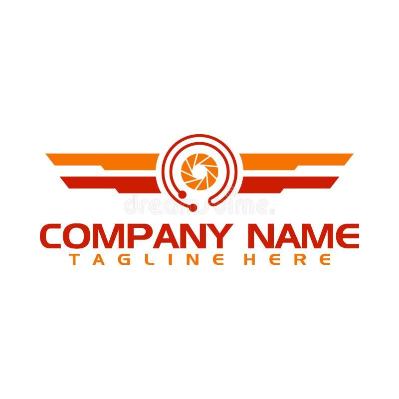 Πρότυπο εταιρικού λογότυπου Camera Photo Studio απεικόνιση αποθεμάτων