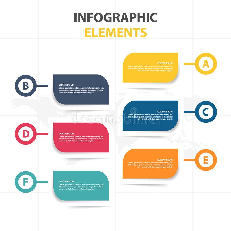 Πρότυπο διαδικασίας υπόδειξης ως προς το χρόνο επιχειρησιακού Infographic, ζωηρόχρωμο παράθυρο κειμένου εμβλημάτων desgin για την διανυσματική απεικόνιση