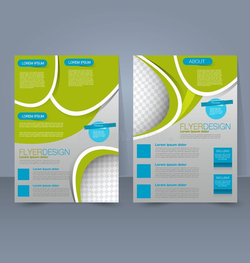 Πρότυπο ιπτάμενων Επιχειρησιακό φυλλάδιο Αφίσα Editable A4 για την κάλυψη περιοδικών ιστοχώρου παρουσίασης εκπαίδευσης σχεδίου ελεύθερη απεικόνιση δικαιώματος