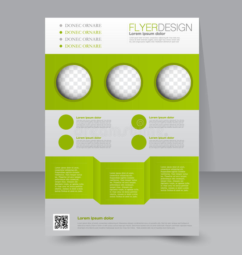 Πρότυπο ιπτάμενων Επιχειρησιακό φυλλάδιο Αφίσα Editable A4 διανυσματική απεικόνιση