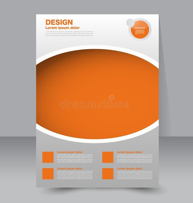 Πρότυπο ιπτάμενων Επιχειρησιακό φυλλάδιο Αφίσα Editable A4 απεικόνιση αποθεμάτων
