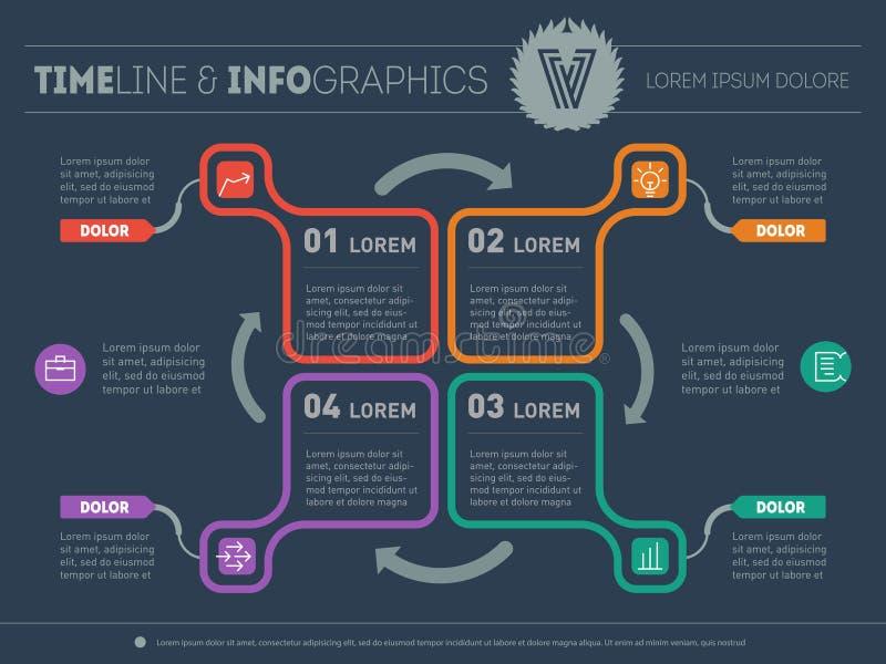 Πρότυπο Ιστού για το διάγραμμα ή την παρουσίαση κύκλων Επιχείρηση concep διανυσματική απεικόνιση