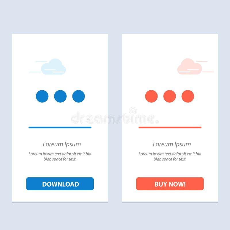 Πρότυπο κάρτας γραφικών συστατικών Chat, Chatting, Sign Blue και Red Download και Buy Now απεικόνιση αποθεμάτων