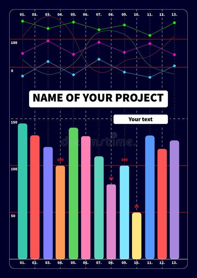 Πρότυπο κάλυψης με τις στατιστικές grafs απεικόνιση αποθεμάτων