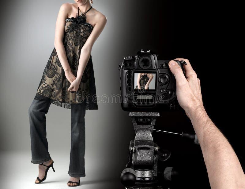 πρότυπο καλυμμένο στούντιο μόδας στοκ εικόνα
