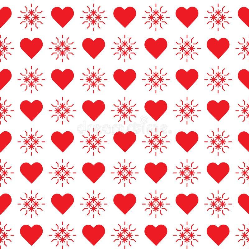 πρότυπο καρδιών άνευ ραφής θηλυκός βαλεντίνος τεσσάρων καρδιών s χεριών ημέρας κραγιονιών ελεύθερη απεικόνιση δικαιώματος