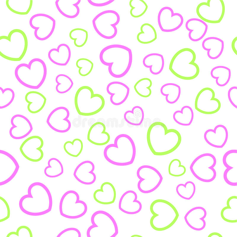 Download πρότυπο καρδιών άνευ ραφής διανυσματική απεικόνιση. εικονογραφία από εικόνα - 13186880