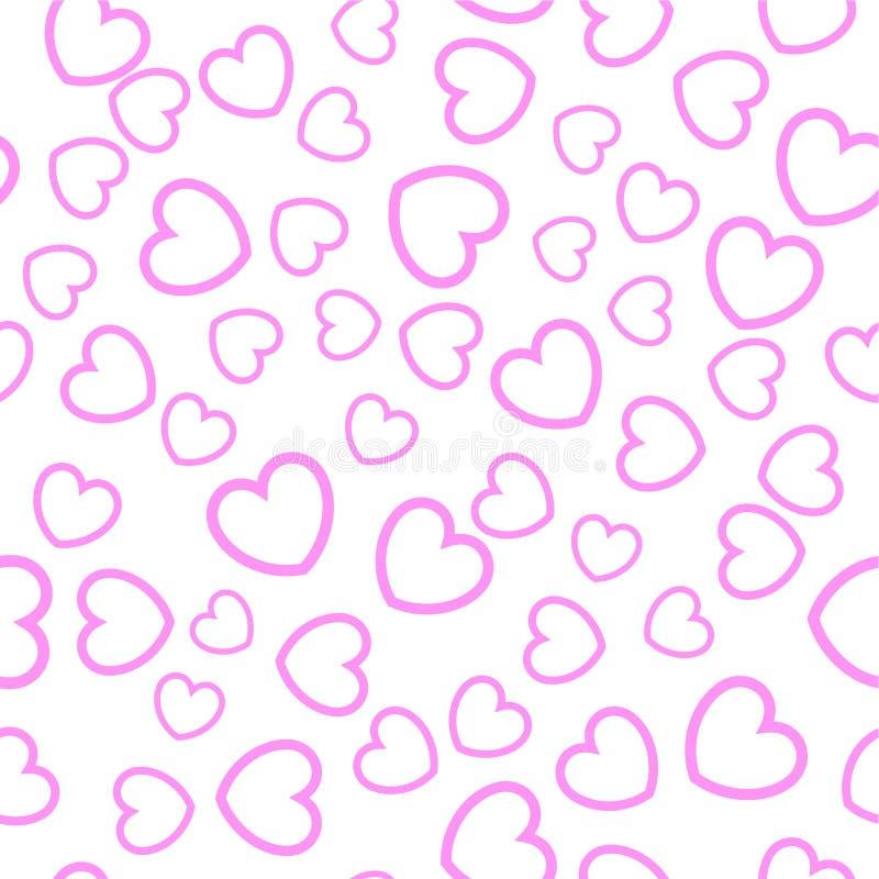 Download πρότυπο καρδιών άνευ ραφής διανυσματική απεικόνιση. εικονογραφία από άσπρος - 13186887