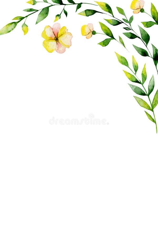 Πρότυπο καρτών πρόσκλησης Watercolor διανυσματική απεικόνιση
