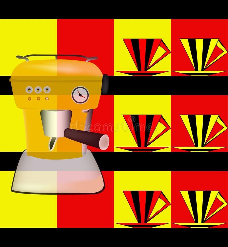 πρότυπο καταλόγων επιλογής deco καφέδων ελεύθερη απεικόνιση δικαιώματος