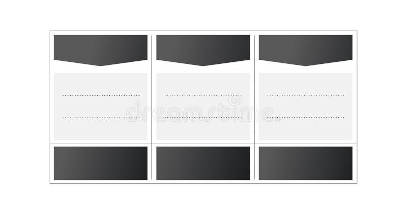 Πρότυπο κενών πινάκων, σύγκριση των υπηρεσιών Επιτραπέζιο πρότυπο τιμολόγησης Ιστού για το επιχειρηματικό σχέδιο Απεικόνιση που α απεικόνιση αποθεμάτων