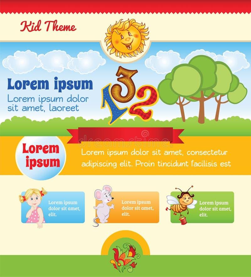 Πρότυπο κινούμενων σχεδίων παιδιών απεικόνιση αποθεμάτων