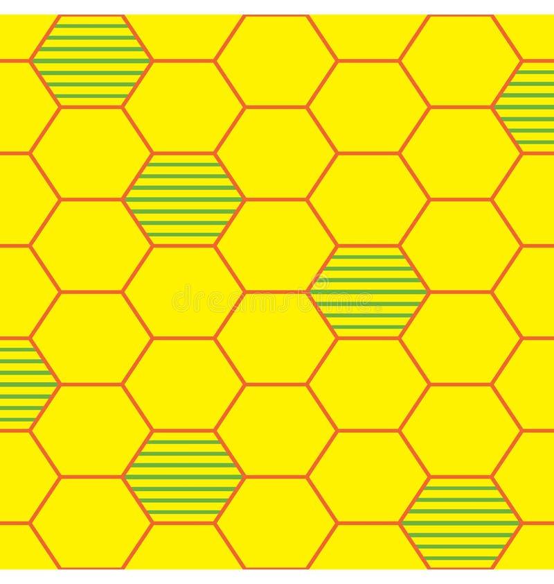πρότυπο κυψελών μελισσών απεικόνιση αποθεμάτων