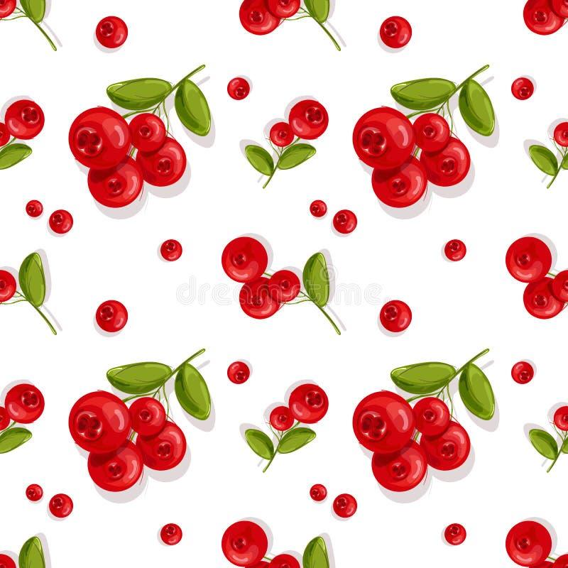 πρότυπο Κόκκινα πράσινα φύλλα μούρων επίσης corel σύρετε το διάνυσμα απεικόνισης στοκ φωτογραφίες