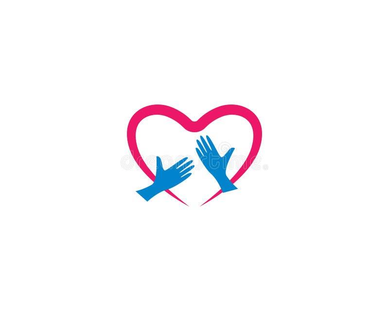 Πρότυπο λογότυπων αγάπης ελεύθερη απεικόνιση δικαιώματος