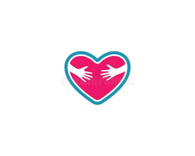 Πρότυπο λογότυπων αγάπης διανυσματική απεικόνιση
