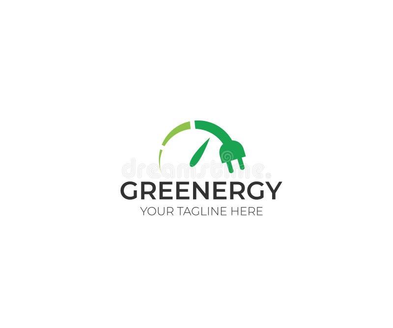 Πρότυπο λογότυπων ανανεώσιμης ενέργειας Πράσινο ενεργειακό διανυσματικό σχέδιο ελεύθερη απεικόνιση δικαιώματος